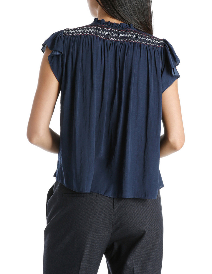 Top Short Sleeve With Smocking image 3