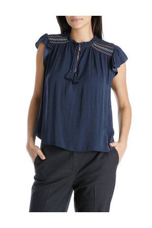 Piper - Top Short Sleeve With Smocking