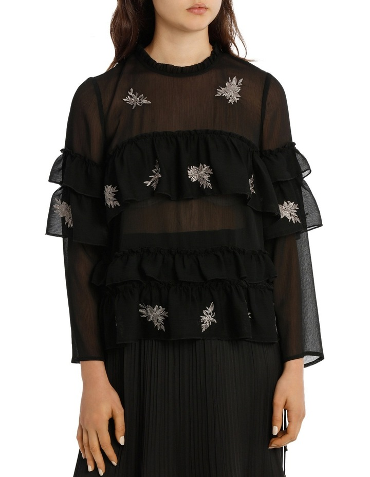 Top Embroidered With Ruffles image 1