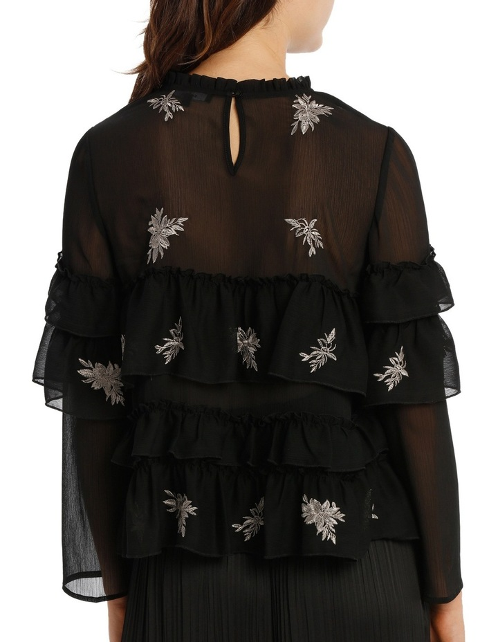 Top Embroidered With Ruffles image 3