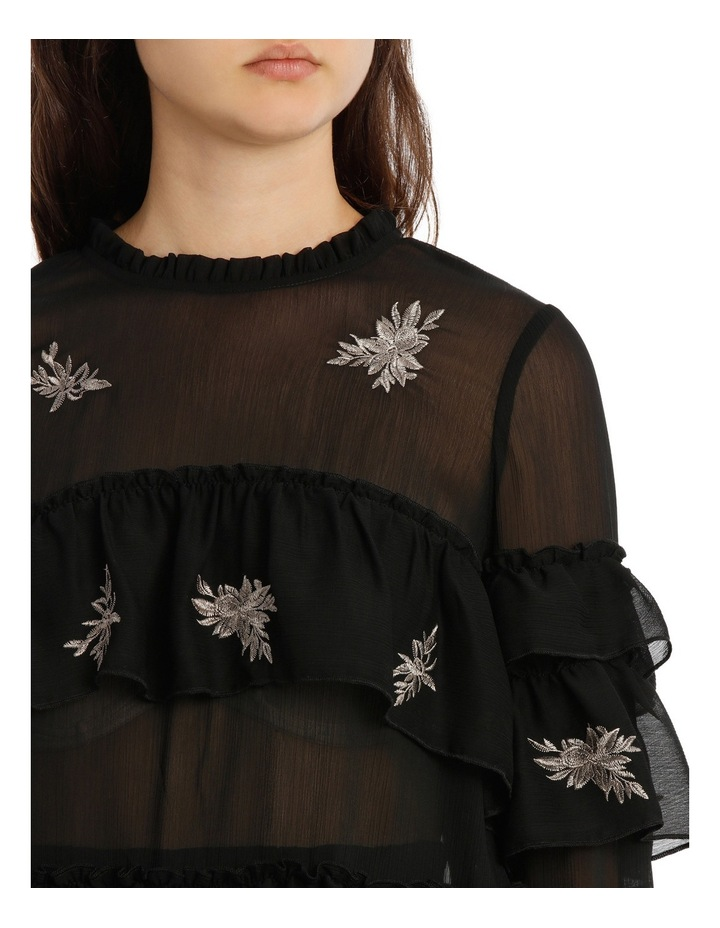 Top Embroidered With Ruffles image 4
