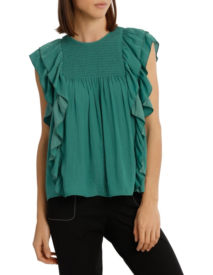 Top With Shirring And Ruffles image 1