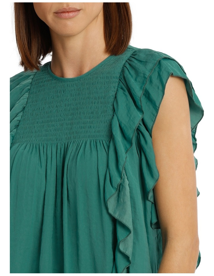 Top With Shirring And Ruffles image 4
