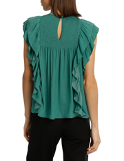 Piper - Top With Shirring And Ruffles