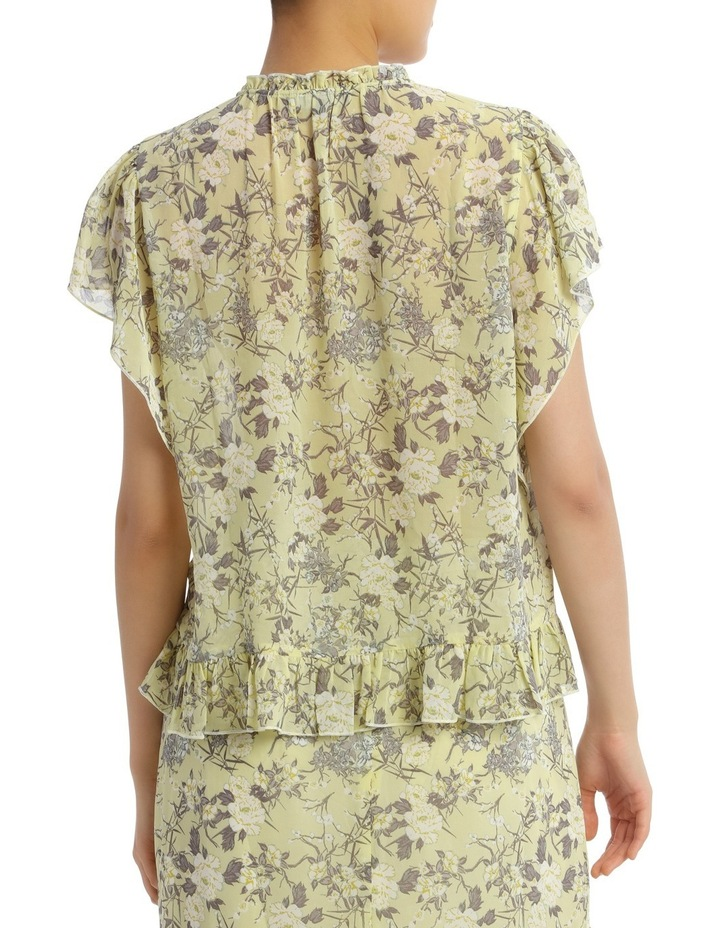 Top Print Soft with Ruffle Hem Short Sleeve image 3