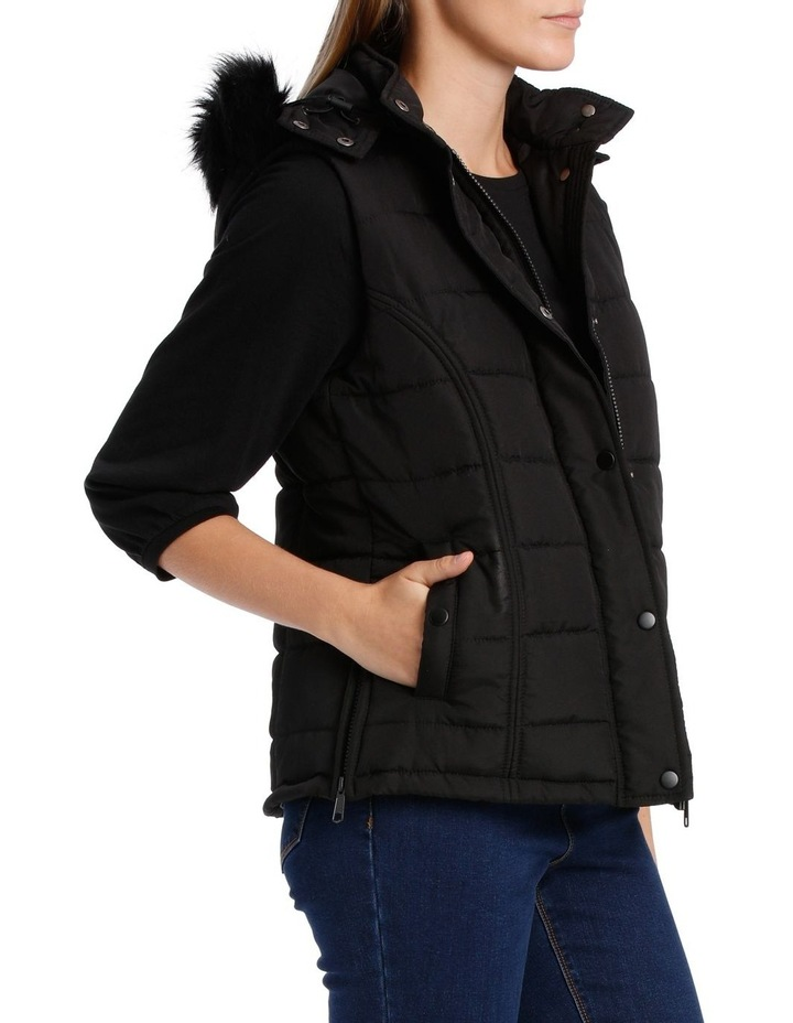 Vest Puffer with Fur Trim Hood image 2