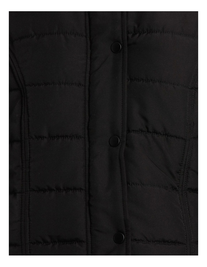 Vest Puffer with Fur Trim Hood image 4