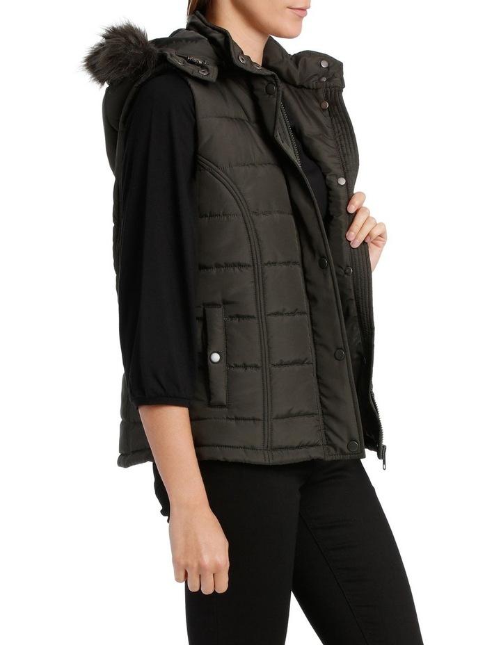 Vest Puffer With Fur Trim Hood image 2