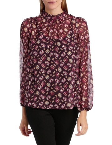 34c349521f5 Piper Top ruffle Neck With Foil