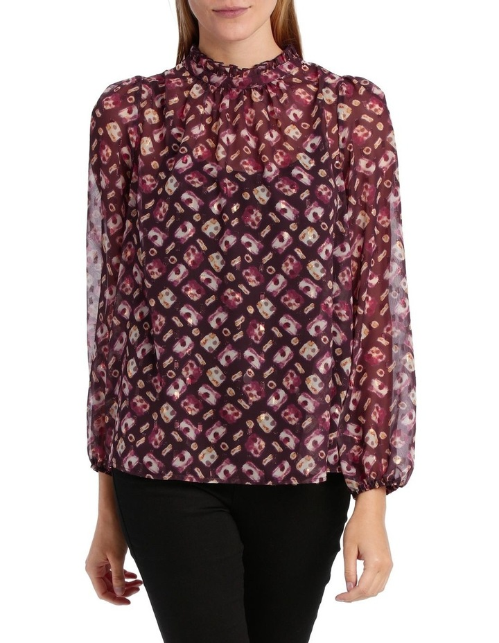 Top ruffle Neck With Foil image 1