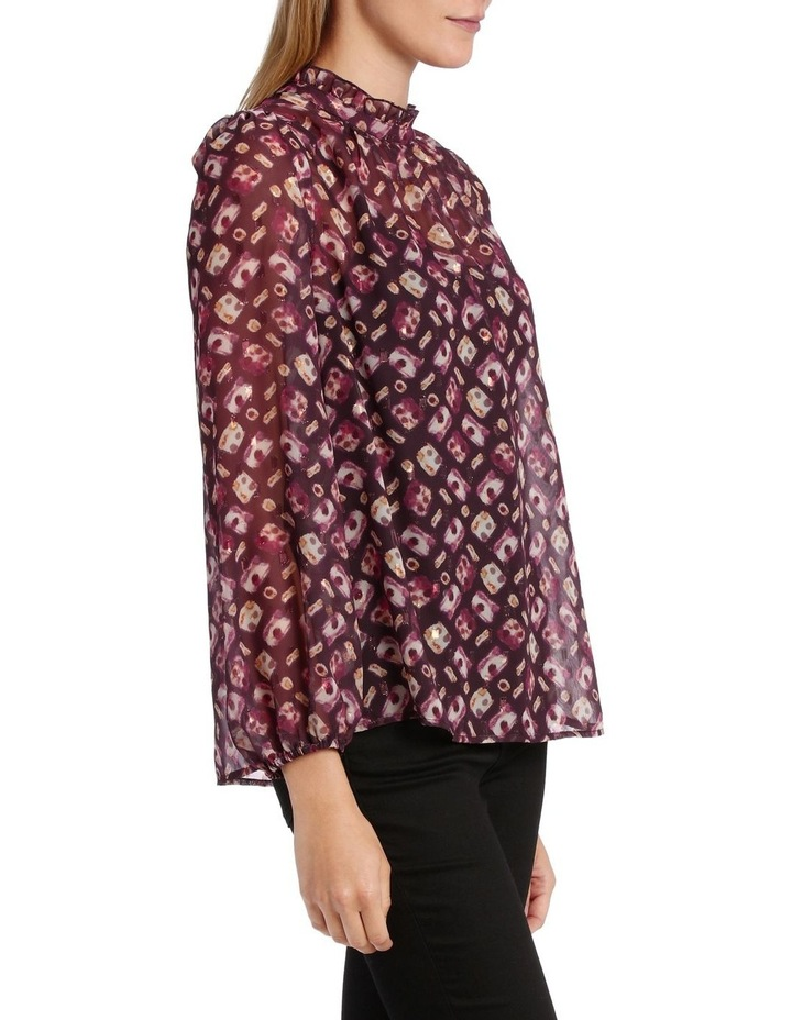 Top ruffle Neck With Foil image 2