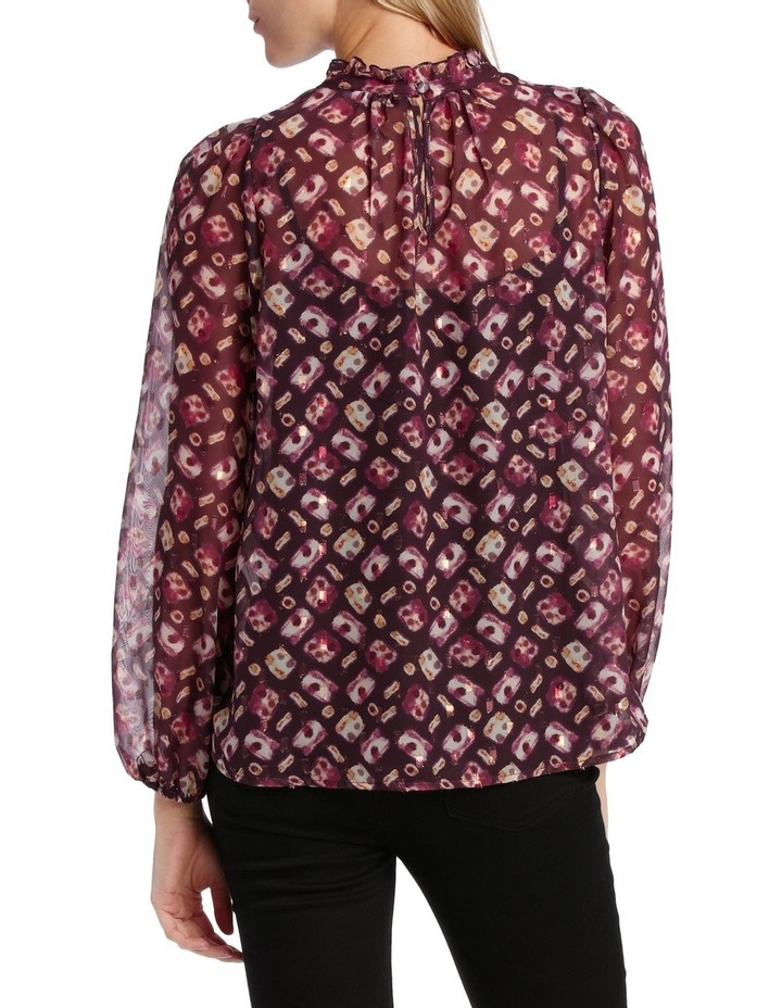 Top ruffle Neck With Foil image 3
