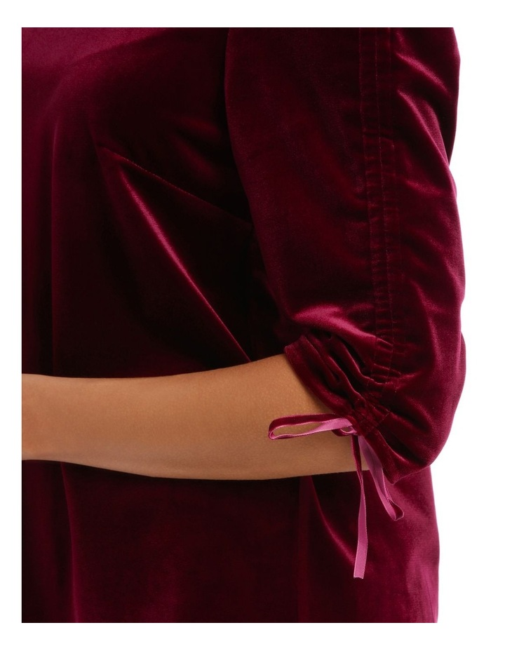Rouched Sleeve Velvet Top image 4