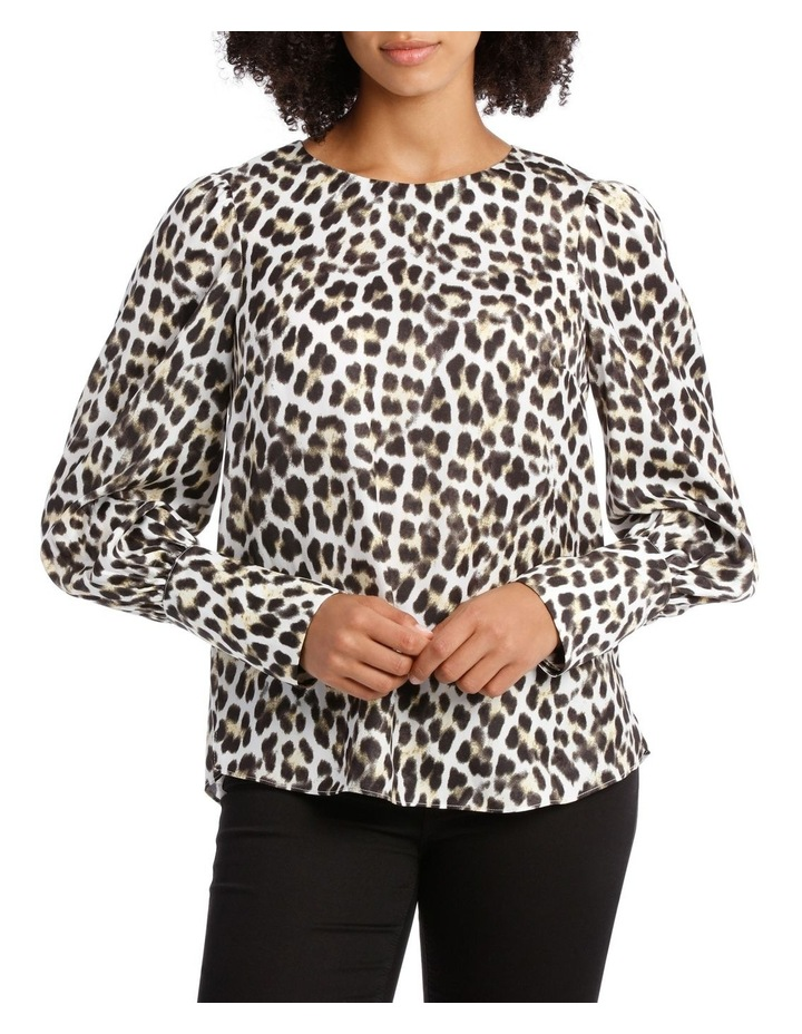 Top with Deep Cuff Button Back Print image 1