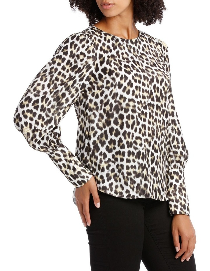 Top with Deep Cuff Button Back Print image 2