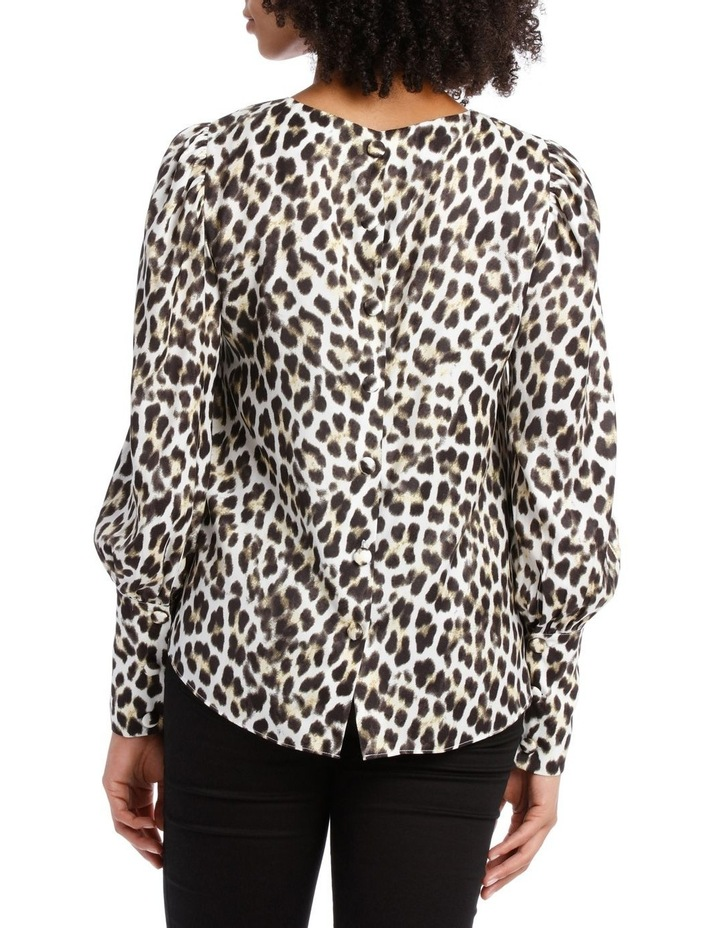 Top with Deep Cuff Button Back Print image 3