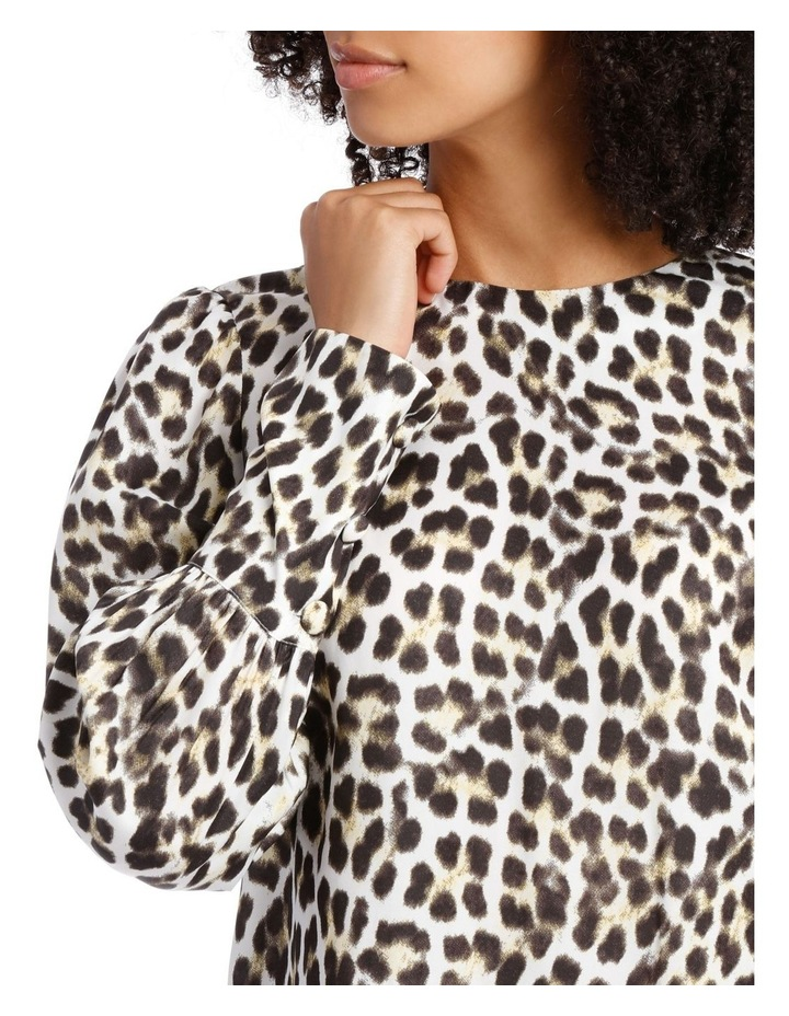 Top with Deep Cuff Button Back Print image 4