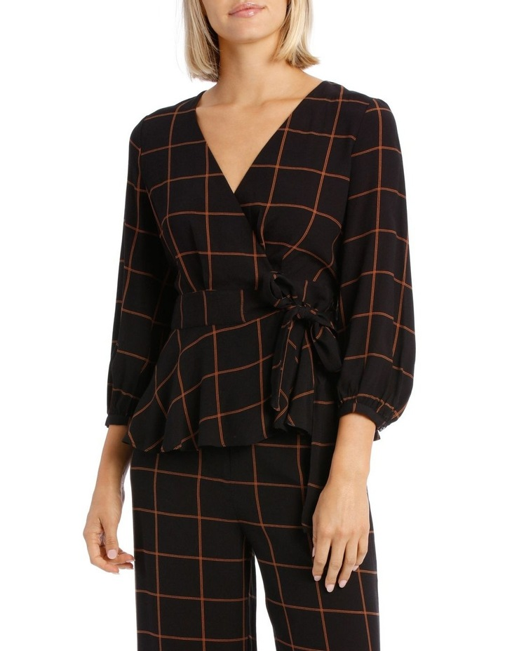 Checked Wrap Top image 1