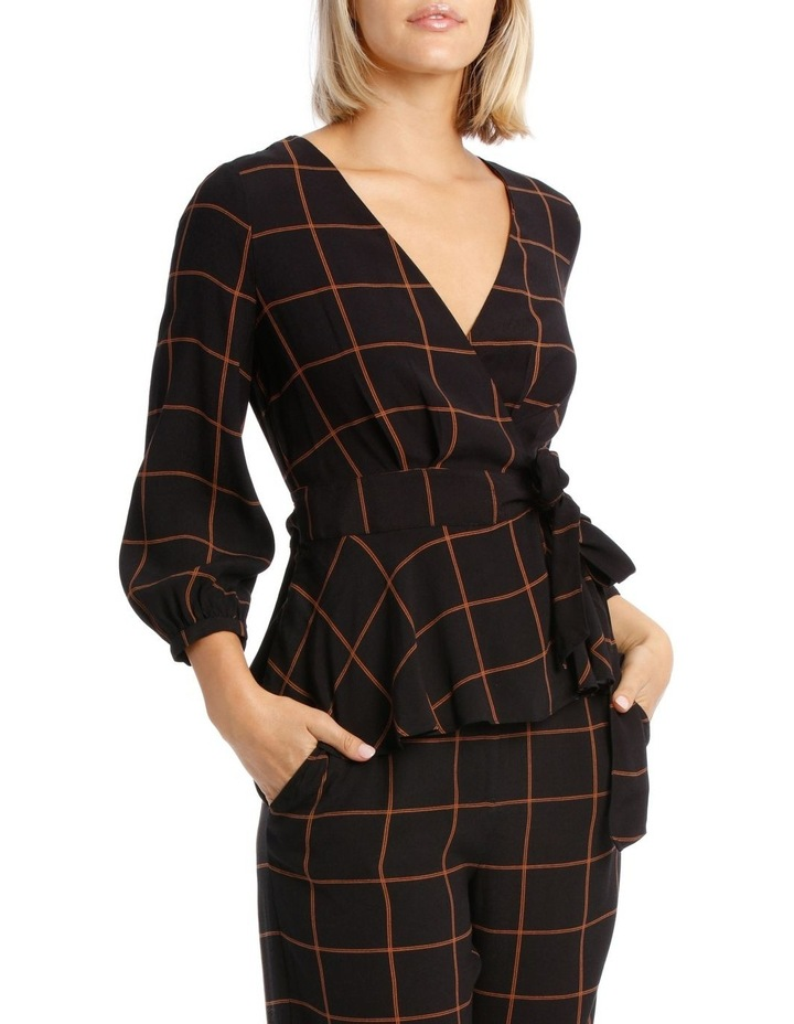 Checked Wrap Top image 2