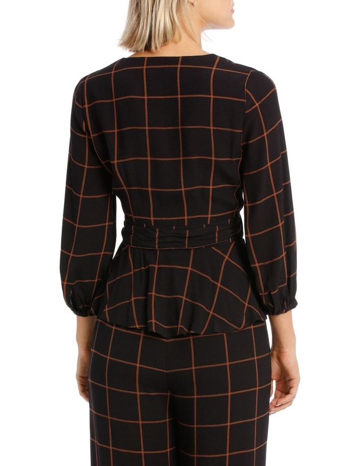 Checked Wrap Top image 3