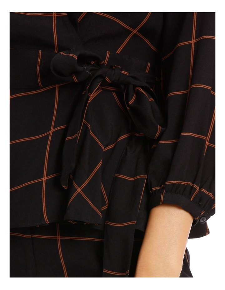 Checked Wrap Top image 4