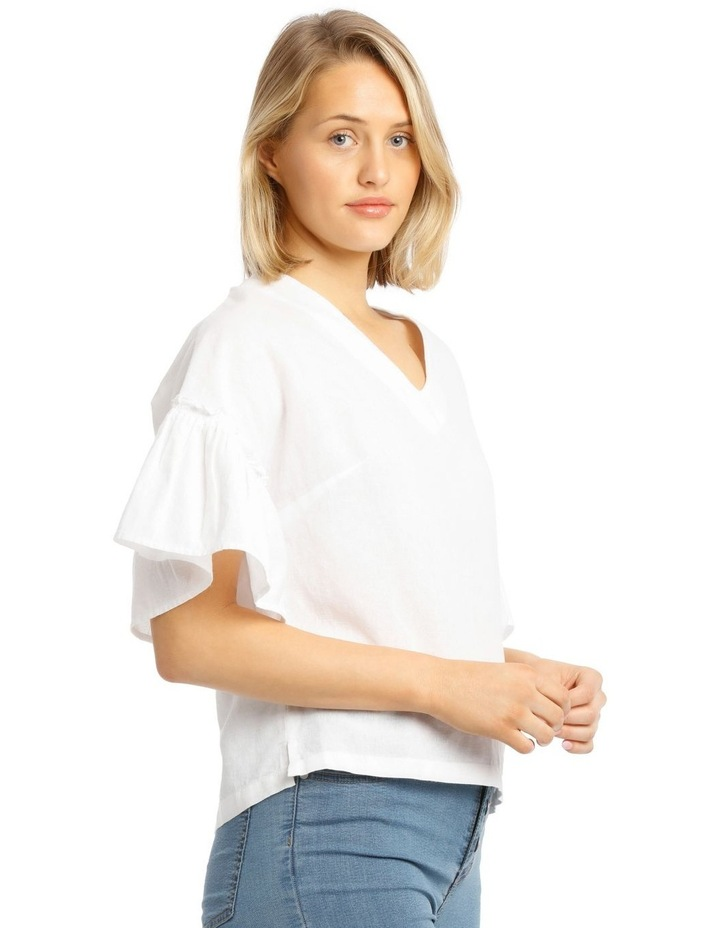 Vee Neck Top With Solid Ruffles image 2