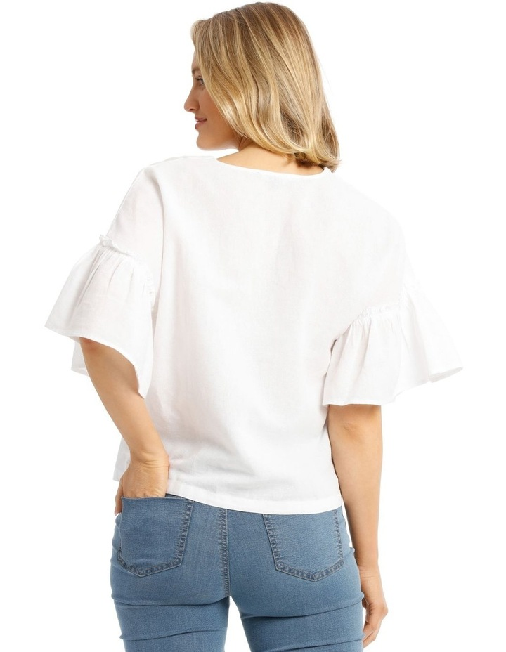 Vee Neck Top With Solid Ruffles image 3
