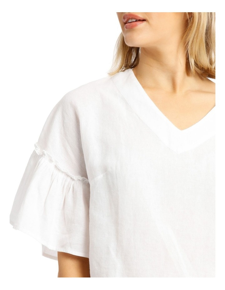 Vee Neck Top With Solid Ruffles image 4