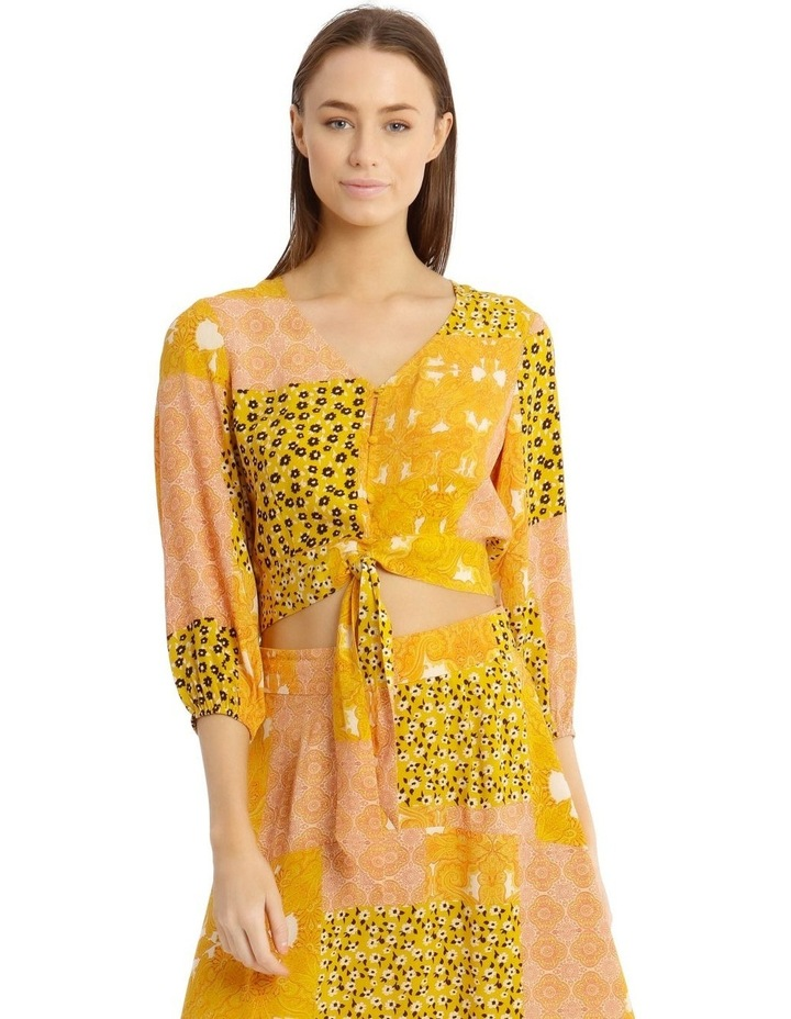 Printed Wrap Top Ditzy Patchwork image 1