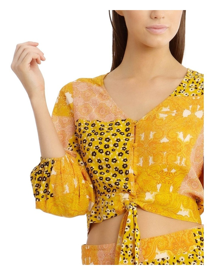 Printed Wrap Top Ditzy Patchwork image 4