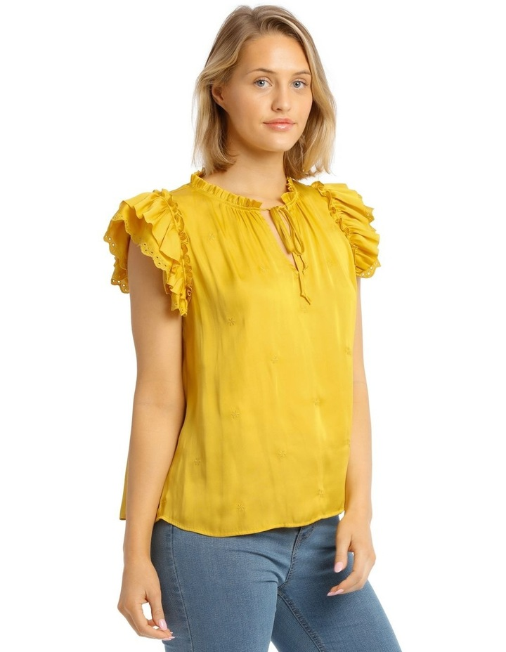 Embroidered Short Sleeve Top image 2