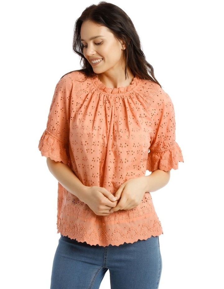 Broderie Short Sleeve Top image 1