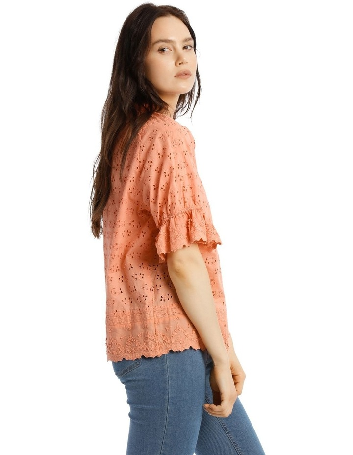 Broderie Short Sleeve Top image 2