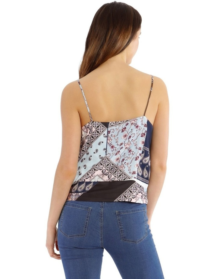 Printed Knot Front Cami Top image 3