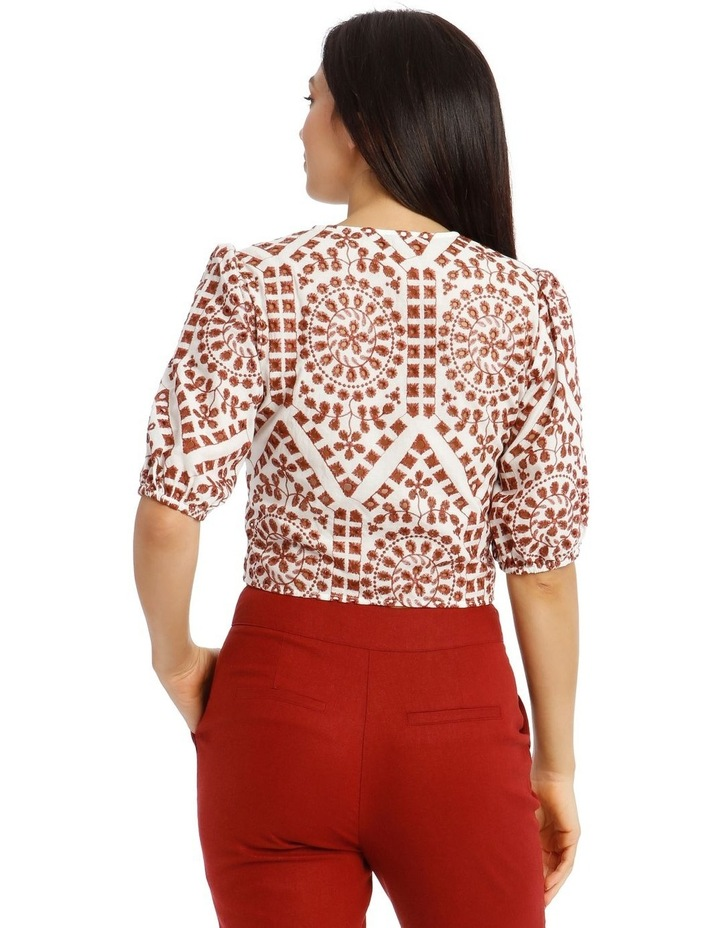 Embroidered Contrast Colour Wrap Top image 3