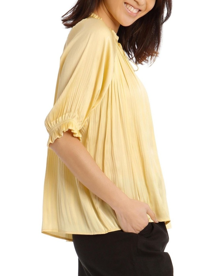 Pleated Top with Shirred Collar image 2