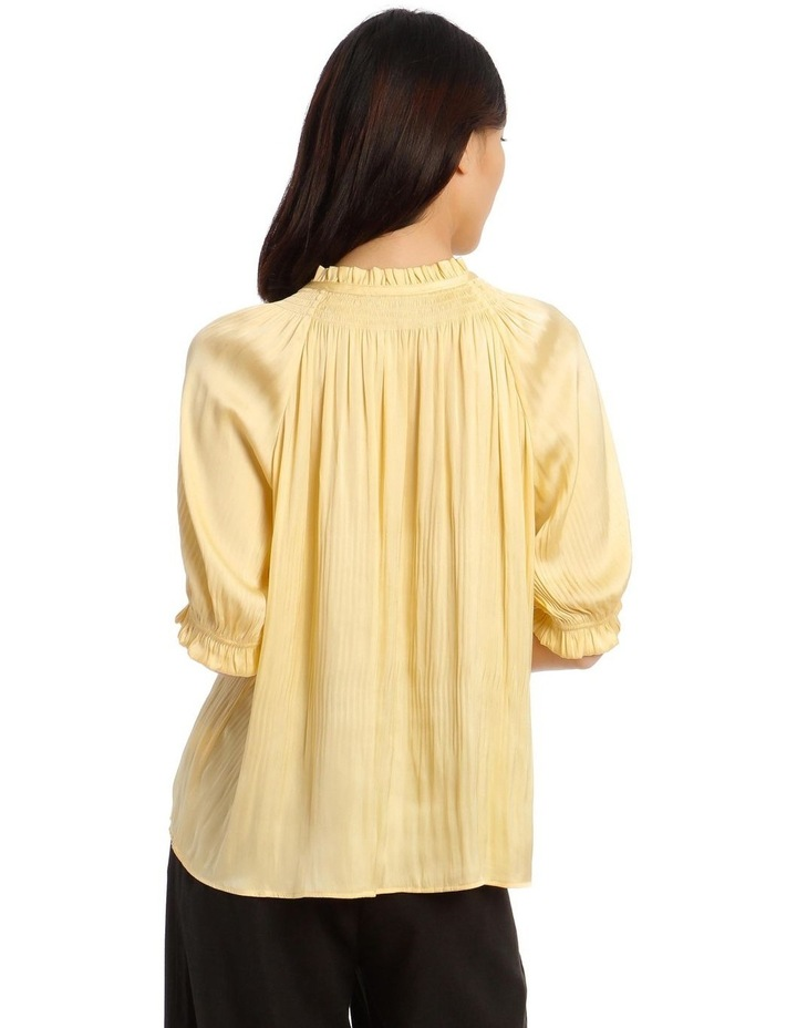 Pleated Top with Shirred Collar image 3