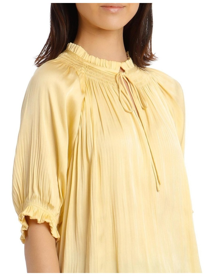 Pleated Top with Shirred Collar image 4