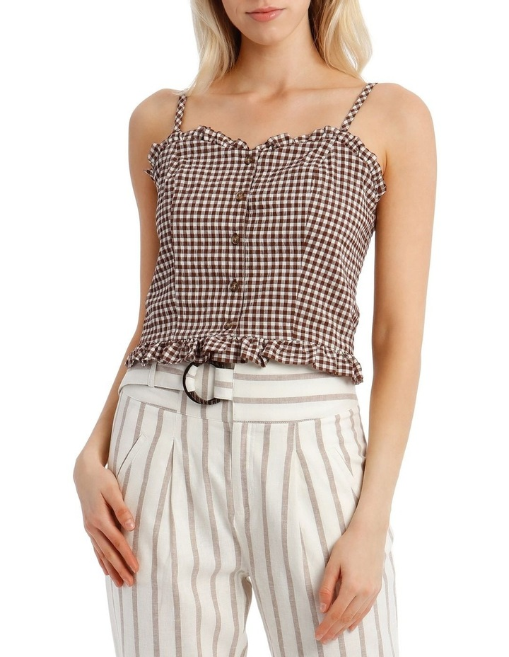 Gingham Top With Shirring image 1