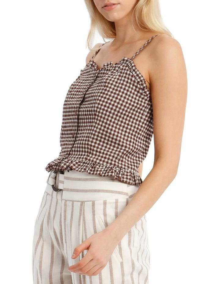 Gingham Top With Shirring image 2