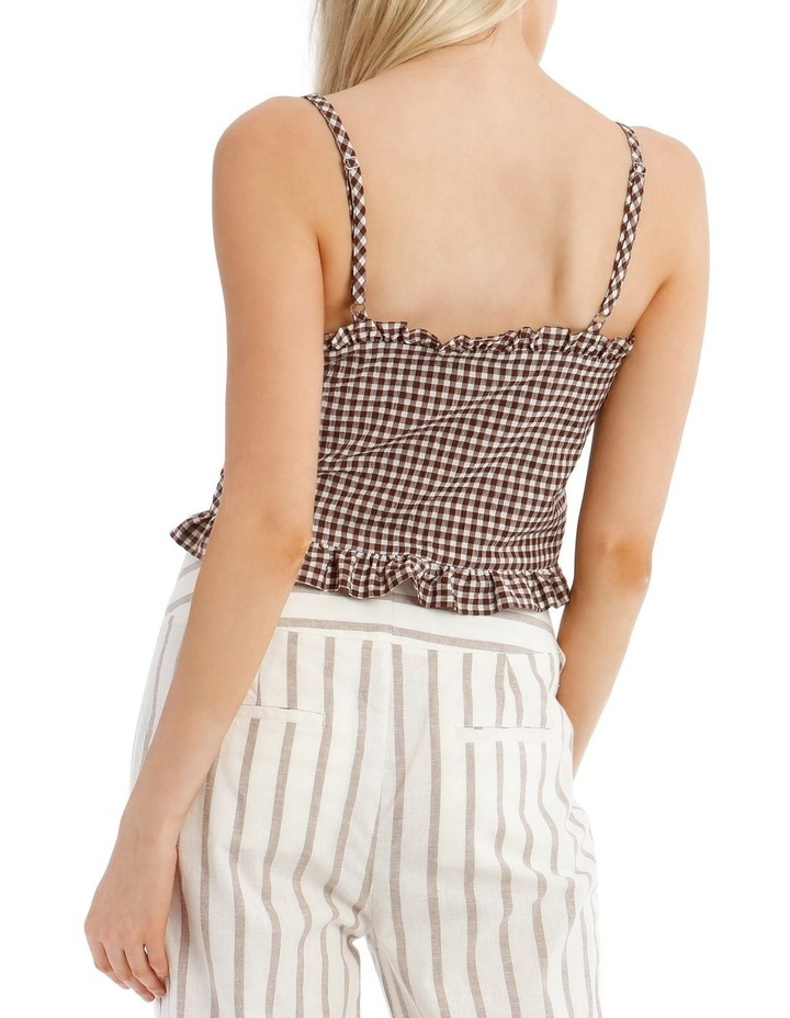 Gingham Top With Shirring image 3