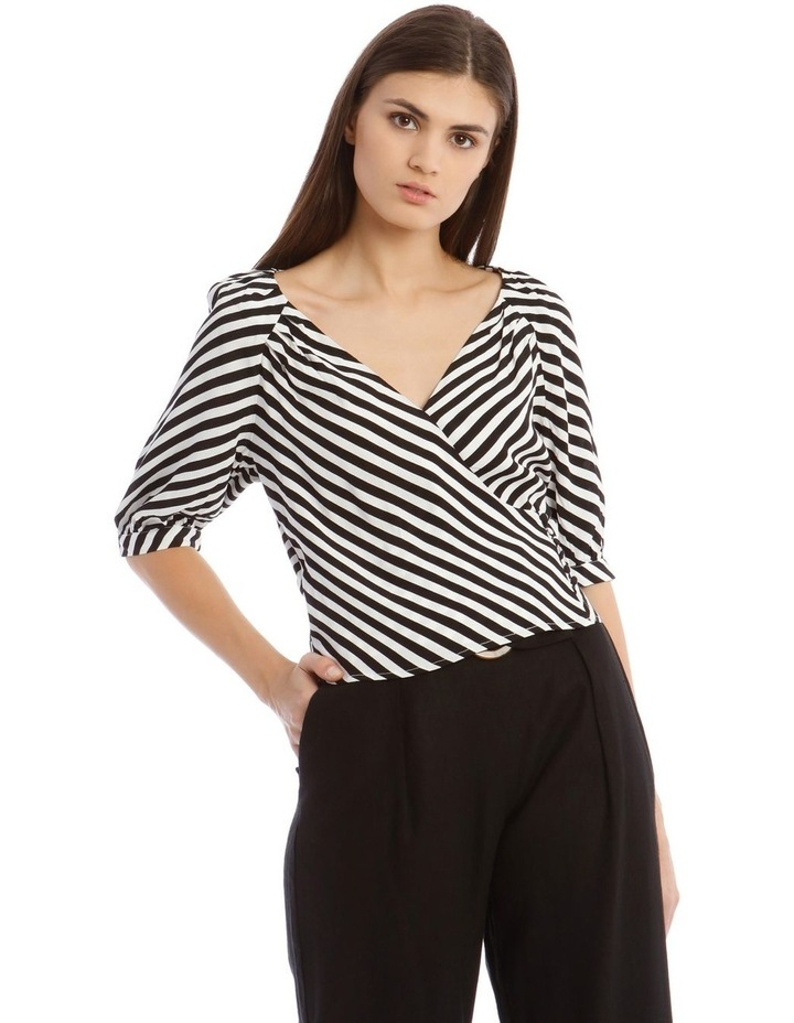 Striped Wrap Top image 1