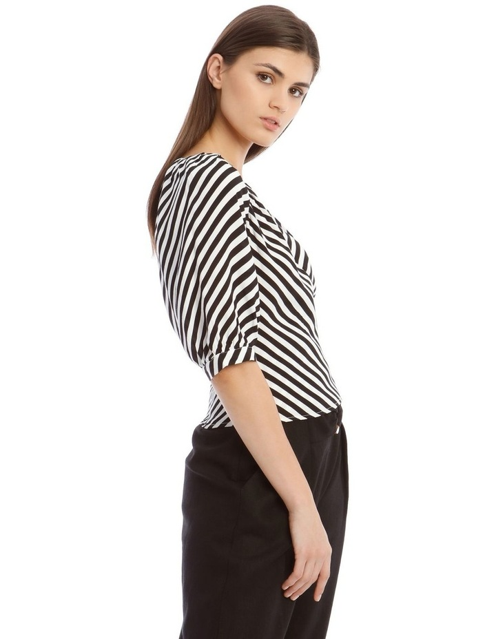 Striped Wrap Top image 2