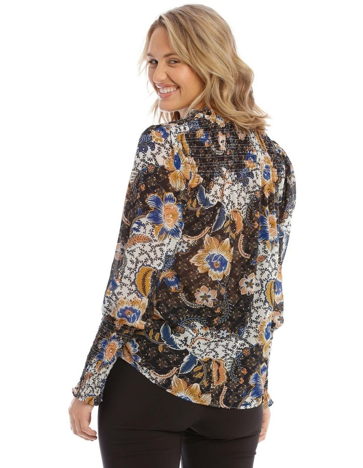 Shirred Top With Button Detail image 3