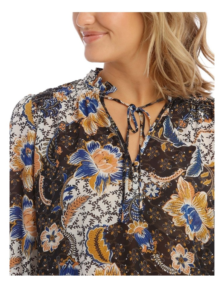 Shirred Top With Button Detail image 4