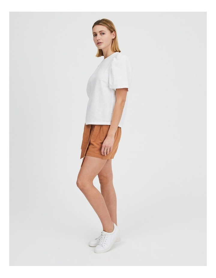 Linen Puff Sleeve Top image 5
