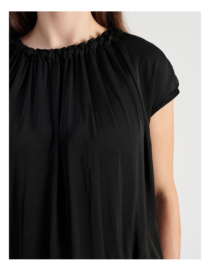 Sleeveless Waist Tie Top in Black image 5