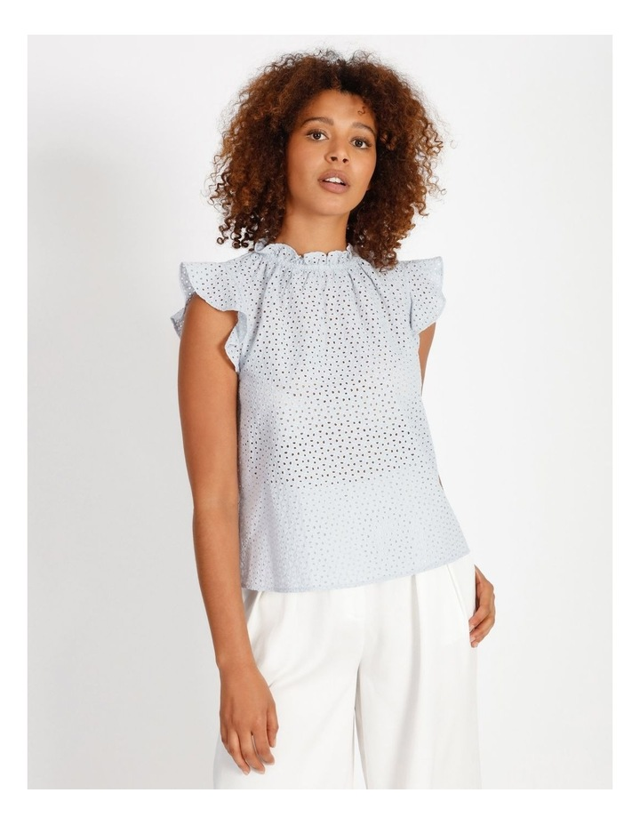 High Neck Broderie Top image 1