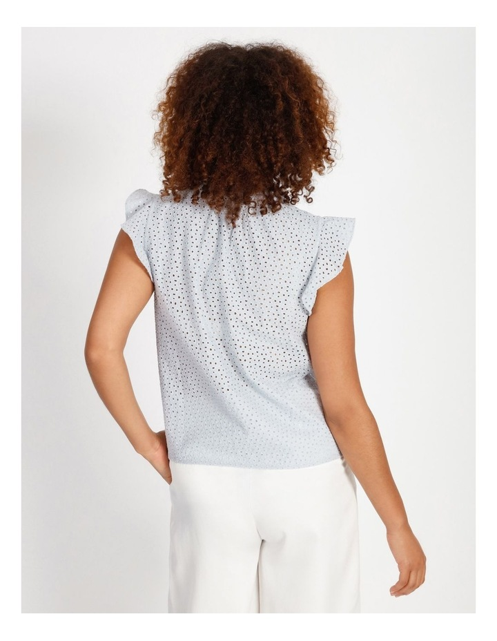 High Neck Broderie Top image 3