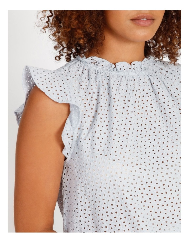 High Neck Broderie Top image 4